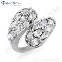 New Extra Shine CZ  925 Sterling Silver Ring