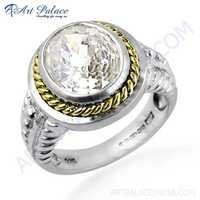 Premier Passion Cubic Zirconia Gemstone Silver Ring