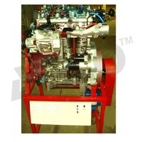 CUT SECTION MODEL OF FOUR STROKE FOUR CYLINDER DIESEL