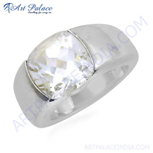 Wholesale Handmade Crystal Gemstone Silver Ring