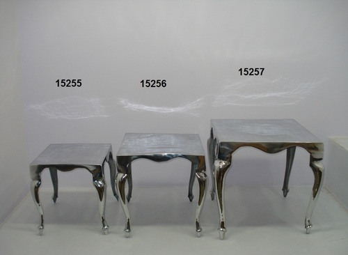 Square Silver Stools