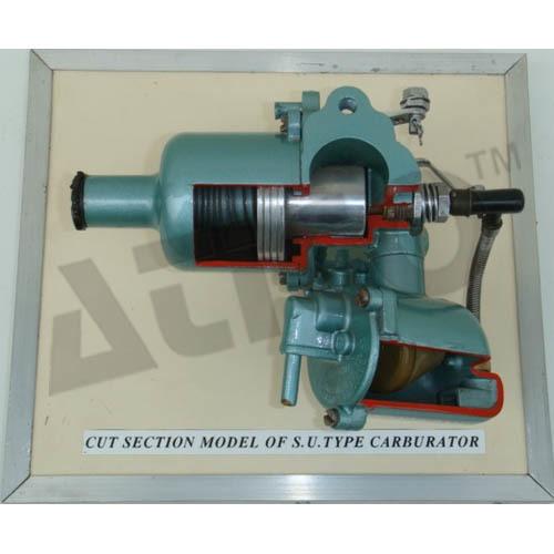 CUT SECTION MODEL OF CARBURATORS S.U. TYPE