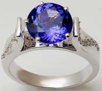 Blue tanzanite engagement rings,womens ring onlin