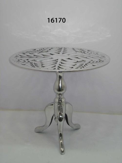 Aluminium Shiny Round Table