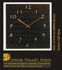 Wall Clock - Algebric Black