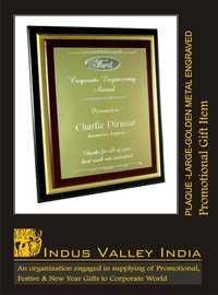 Plaque Large - Golden Metal Engraved