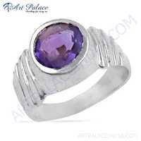 Dazzling Amethyst Gemstone Silver Ring Jewelry