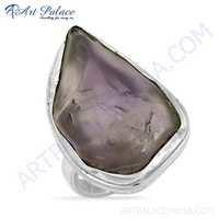 Excellent Amethyst Gemstone Silver Ring