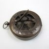antique brass sun dial compass 3''