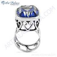 Shiney Blue Mystique Gemstone Silver Ring