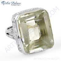 Charming Crystal Gemstone Silver Ring