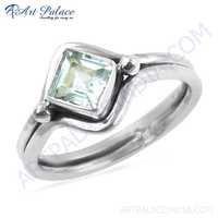 Classy Blue Topaz Gemstone 925 Streling Silver Ring