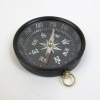 Aluminum Flat Desktop Compass, Black Dial, Antique Finish size: 3