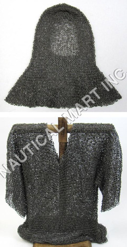 Medieval Chain Mail Shirt Armor Set