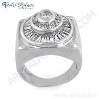 Fashion Cubic Zirconia  Silver Ring