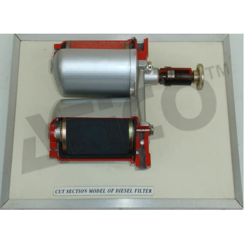 Cut Section Model Of Diesel Filter