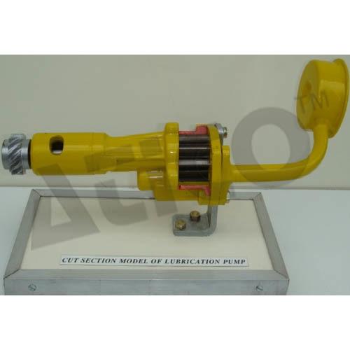 Cut Section Model Of Gear Lubrication Pump