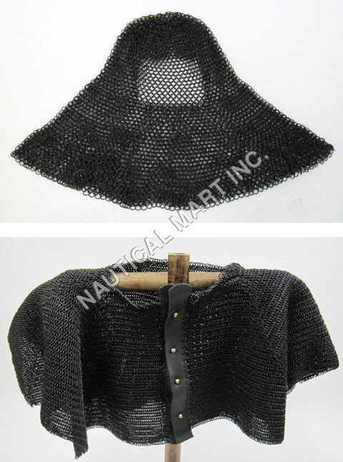 Antique Finish Chainmail Half-Shirt