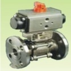 3 Piece Ball Valves With Pneumatic Rotary Actuator