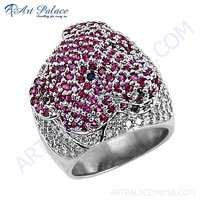 Lastest Luxury Cubic Zirconia & IoliteZirconia & Red Cubic Zirconia Gemstone Silver Ring