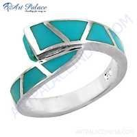 Beautiful Inley 925 Sterling Silver Ring
