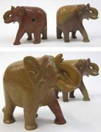 Soapstone Elephant Book Ends, 4
