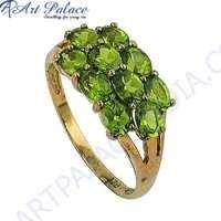 High Quality Peridot Gemstone Silver Ring