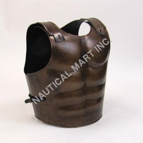 Brown Antique Breast Plate Muscle Armor