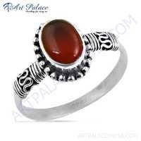 Ethnic Designer Carnelian Gemstone Silver Rings