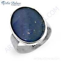 Valuable Large Opal Gemstone Silver Ring