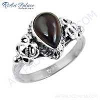 Indian Designer Garnet Gemstone Silver Ring