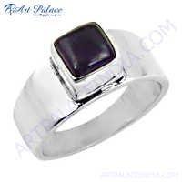 Simple & Charming Amethyst Gemstone Silver Ring