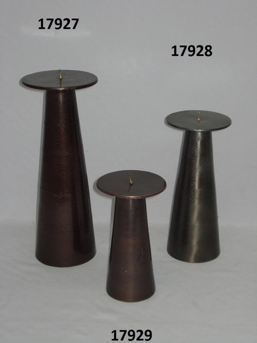 Black Nickel Finish Candle Holders