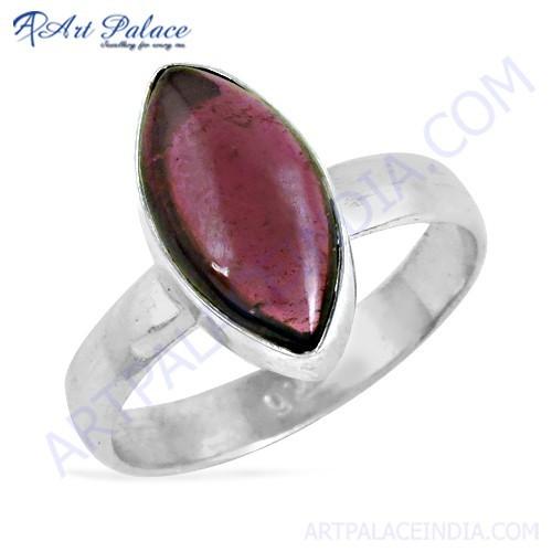 Latest Fashion Garnet Gemtsone Silver Ring