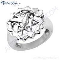 New Stylish Plain Silver Ring Jewelry