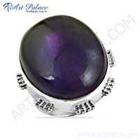 Bold & Beautiful Affrican Amethyst Gemstone Silver Ring