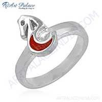 Fashion Accessories Horse Style Inley Sterling Silver Ring