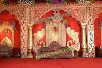 INDIAN WEDDING PEACOCK STAGE SET