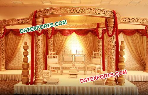 Wedding Royal Golden Mandap