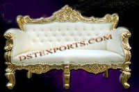 LATEST WEDDING GOLD LOVE SEAT