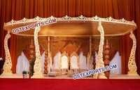 Indian Shadi Wooden Carved Mandap
