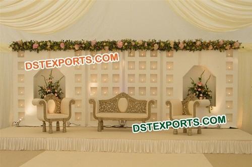 Wedding Stage Fiber Backdrop Set