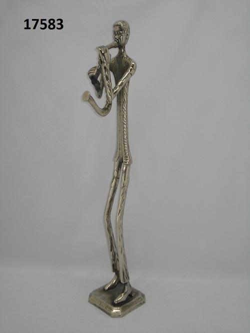 Aluminium Statue Musician Man