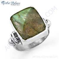 Bold Bagutte Labradorite Gemstone Silver Ring Jewelry