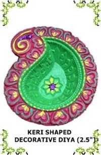 Keri Shaped Decorative Diya