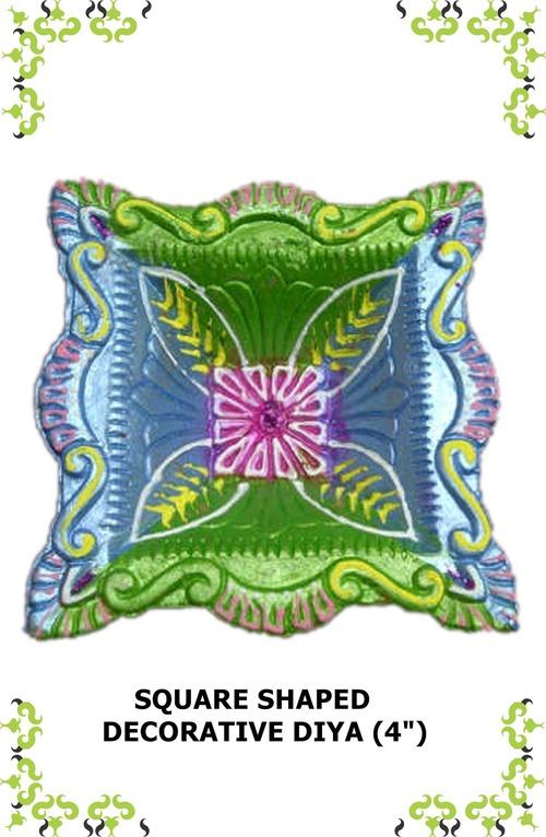 Square Shaped Decorative Diya