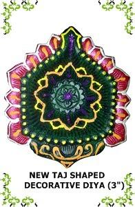 New Taj Shaped Decorative Diya