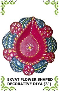 Ekvat Flower Shaped Decorative Diya