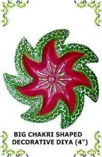 Big Chakri Shaped Decorative Diya