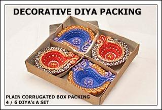 Plain Corrugated Decorative Diya Packing